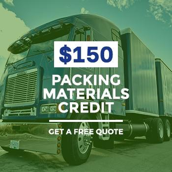 $150 Packing Materials Credit