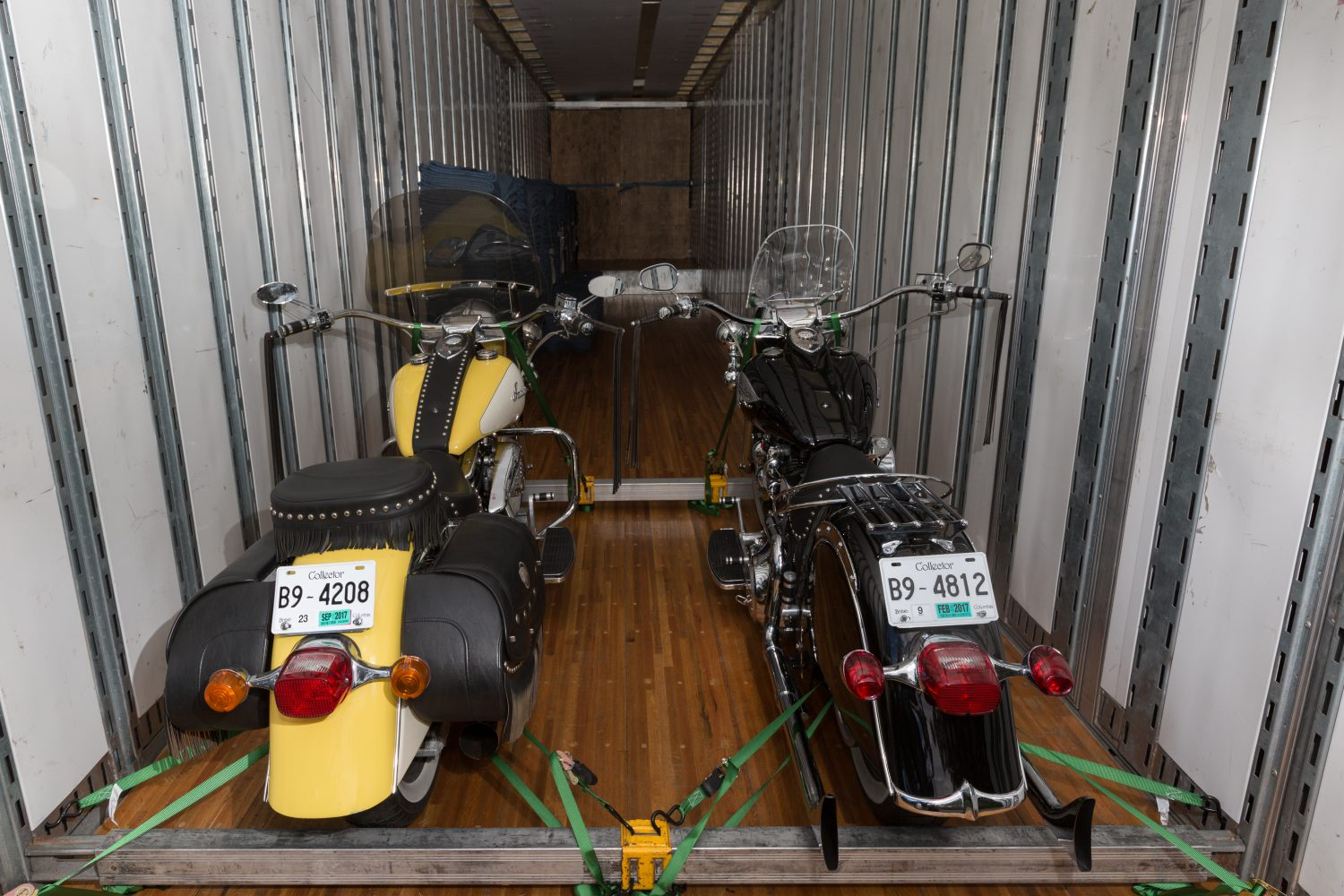 Back of bikes ready for transport