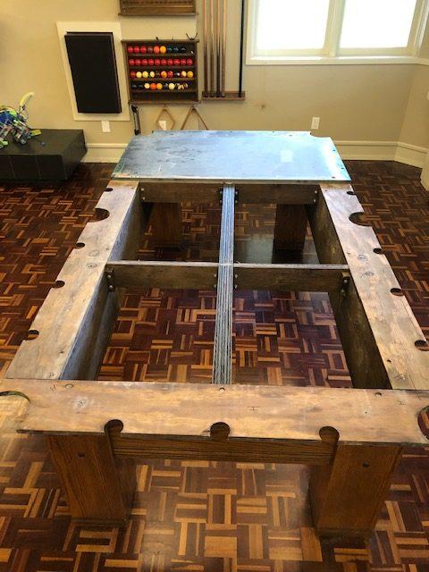 Pool table dismantling